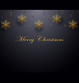 christmas design with gold snowflake and confetti vector image vector image