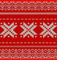 christmas knitted background eps 10 vector image