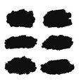 collection different black ink brush strokes vector image vector image