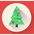 color icon christmas tree flat designed style vector image vector image