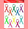 colored charity ribbons vector image
