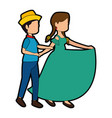 couple dancing icon vector image vector image