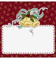 Cute christmas postcard template vector image vector image