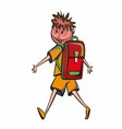 Cute School Children School activities vector image vector image