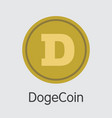 Dogecoin - cryptocurrency logo vector image