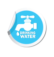 drinking water BLUE LABEL vector image vector image