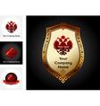 eagle emblem design vector image vector image