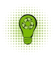 Eco energy concept comics icon vector image