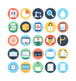 Factory Manufacturing Production Icons 3 vector image vector image