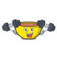 fitness soup union character cartoon vector image