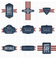 Fourth of July patriotic Labels Set vector image vector image