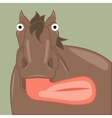 funny cartoon horse showing tongue vector image vector image