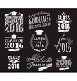 Graduation wishes overlays lettering labels vector image vector image
