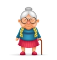 Granny Old Lady 3d Realistic Cartoon Character vector image vector image