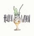 halloween hand drawn vector image