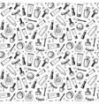 hand drawn seamless pattern of cosmetics vector image vector image