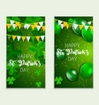happy saint patricks day greeting card background vector image vector image