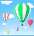 hot air balloon in sky stock vector image