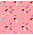 Ice cream popsicle frozen yogurt seamless pattern vector image vector image