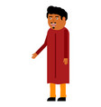 indian man flat icon vector image vector image