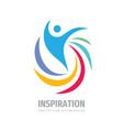 inspiration creative logo design positive human vector image vector image