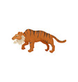 large saber-tooth tiger or smilodon side view vector image