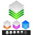 layered stacks progress level indicator symbol vector image