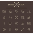Maternity icon set vector image vector image