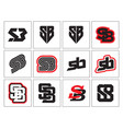 monogram sb vector image