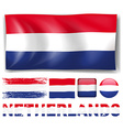 Netherland flag in different designs vector image vector image
