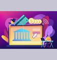 open banking platform concept vector image vector image