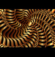 optical art abstract golden waves cover design vector image vector image