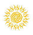 orange sun on white background vector image vector image