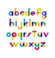 overlapping colorful rounded flat font letters vector image vector image
