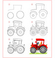 page shows how to learn to draw step step toy vector image vector image