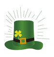 patrick day hat vector image vector image