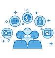 people community conection communication network vector image