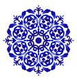 porcelain flower mandala vector image vector image