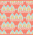 pretty lacy paisley style pattern seamless vector image vector image
