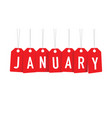 red january tags vector image vector image