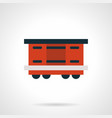 red railroad container flat icon vector image vector image