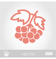Rowan branch outline icon Berry fruit vector image vector image