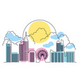 scene day with cityscape icon vector image