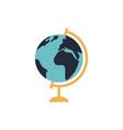 school globe flat icon on white background vector image vector image
