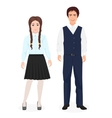 School little kids boy and girl together in formal vector image vector image