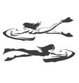 Sea bob Driver emblem set vector image vector image