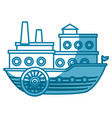 sea ship transport vector image vector image