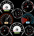 Set of car speedometers vector image vector image