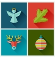 Set of Merry Christmas and Happy New Year icons vector image