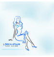 Sitting woman vector image vector image